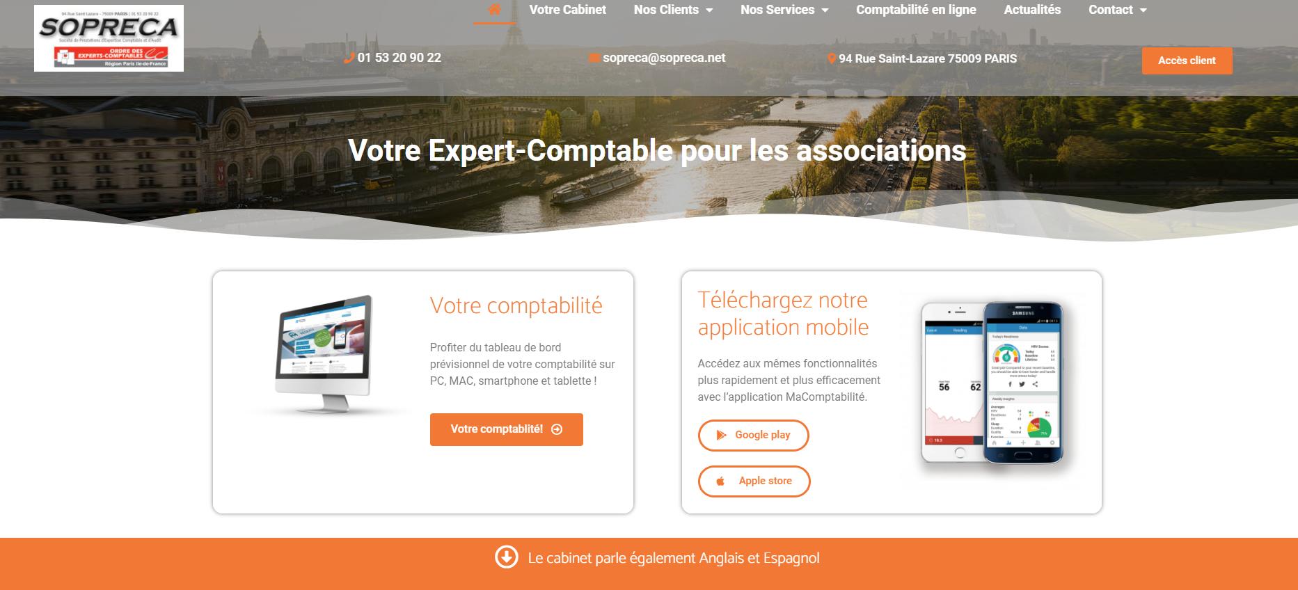 capture site Sopreca cabinet d'expert-comptable